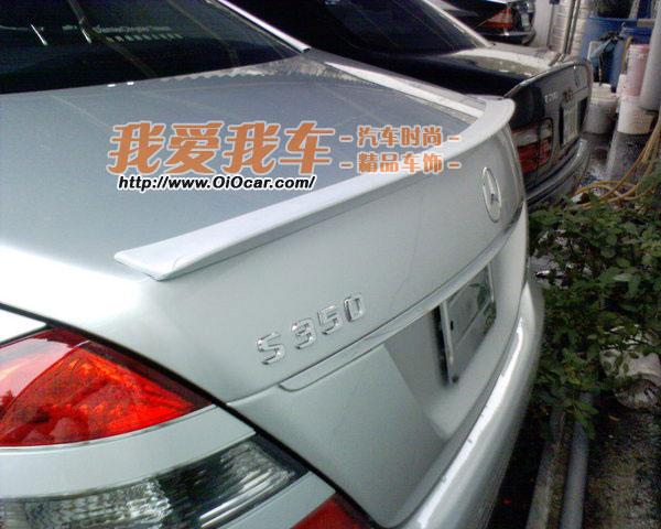 奔驰benz w220 221 s class车系 amg改装款鸭形尾翼高清图片