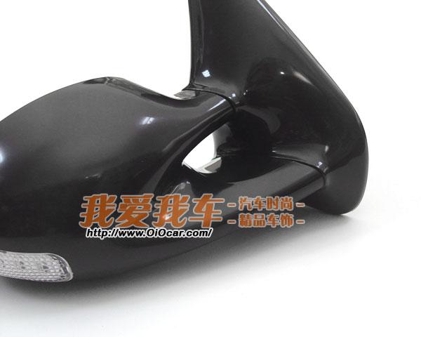 LE改装品牌 高尔夫Golf4 宝来Bora 原装位LED转向子弹形后视镜总成