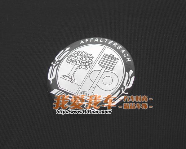 benz奔驰御用改装品牌 amg方向盘logo标志中心贴 黑银款 高清图片