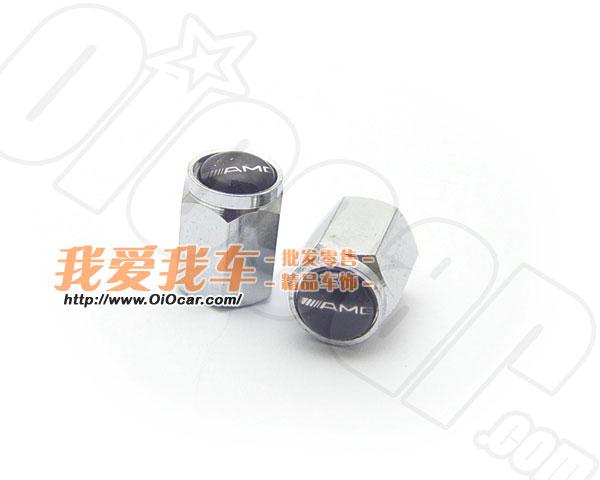 benz奔驰汽车御用改装品牌amg标志logo铝合金进口轮胎气门高清图片